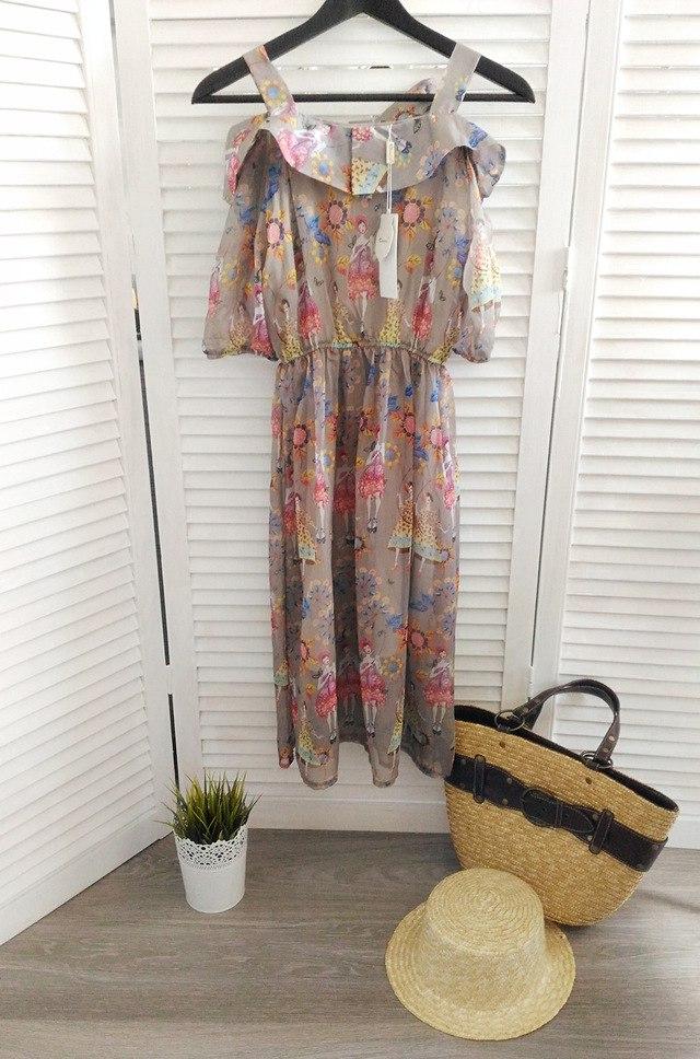 Платье с милым принтом из магазина JIYUN