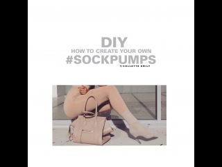 DIY how to create your own #SOCKPUMPS ( Yeezy Season Inspired)
