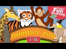 Learn to count 1 to 10 with Number Zoo Toddler Fun Learning