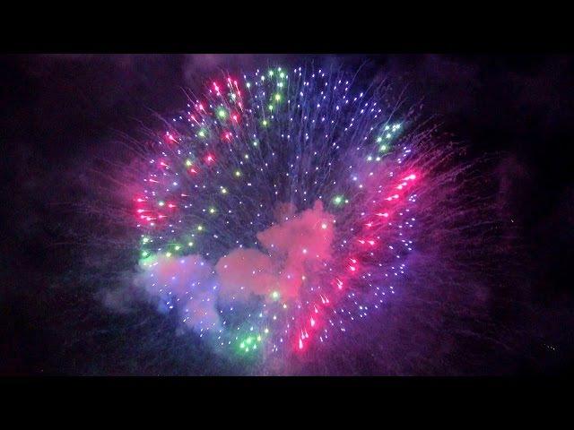 【4K】2017 Wakakusayama Mountain Burning fireworks, Japan