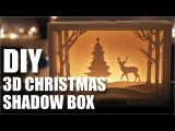 How To Make A DIY 3D Christmas Shadow Box Card  Mad Stuff With Rob