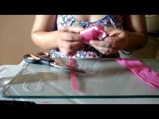 Como fazer faixa slim de meia de seda - Recem nascido