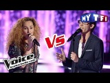 Vincent Vinel VS Guylaine  Love Me, Please Love Me  (M Polnareff)  The Voice France 2017  Battle