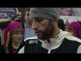 Встреча в аэропорту чемпиона UFC Гаджимурада Антигулова оператор Абдула Бечедов.