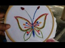 Hand Embroidery Butterfly Stitching by Amma Arts