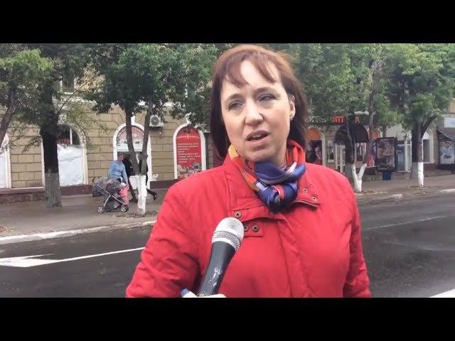 Мариуполь: День Европы - людей почти нет. Опрос жителей города и правда мужчины п ...