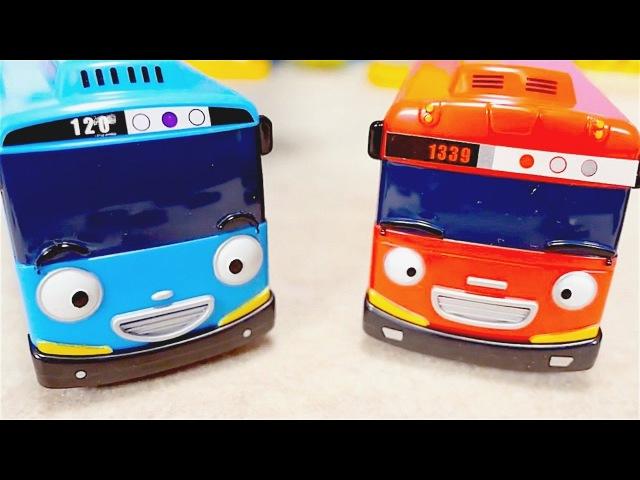 ¡Juguetes de TAYO: autobuses Tayo abren un camino! Vídeos de Tayo en español para niños