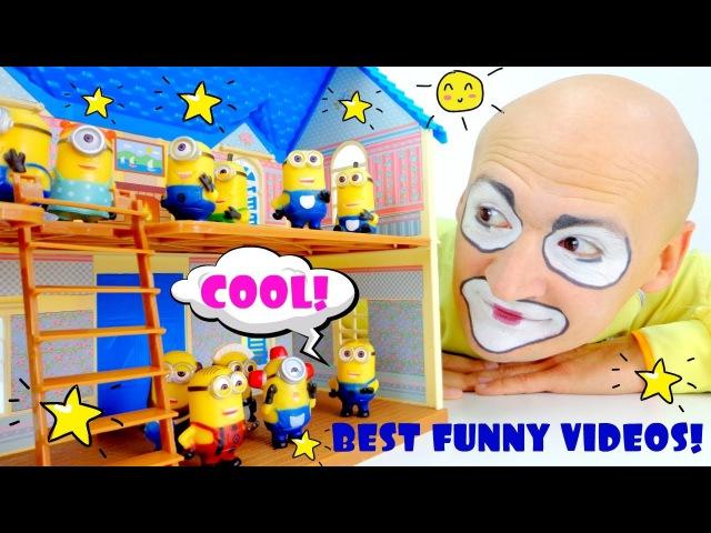 ¡Vídeos de payasos chistosos para niños PAYASO Andrés en español Vídeos más cómicos y de risa