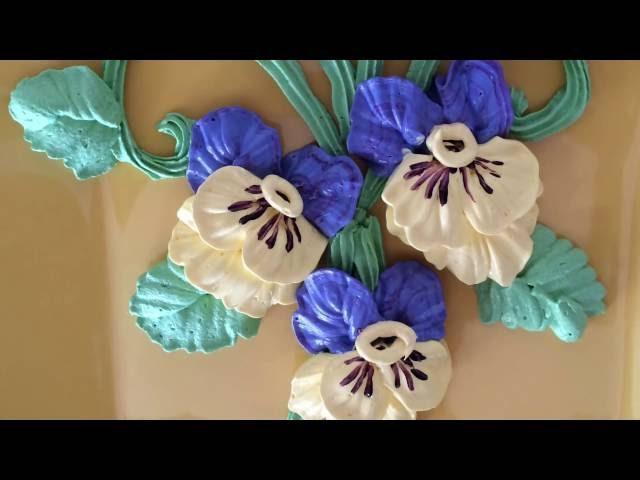 How to make viola flower / Как сделать анютины глазки из крема