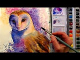 Barn Owl in Watercolor Painting Tutorial