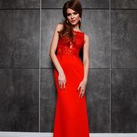 fdf0697a4a9 Вечернее платье с кружевным верхом LQP-511-7