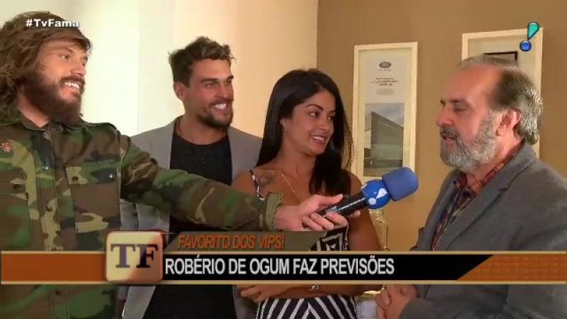Robério de Ogum prevê futuro de Aline Riscado e Felipe Roque