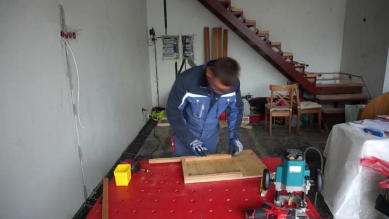 Электромонтаж в деревянном доме. Скрытый электромонтаж. Розетки.