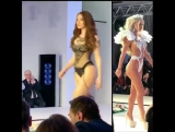 Amazing Sexy Lingerie By Cristina Oae @cristinaoae - Bucharest Fashion Week Day 3. Blessed by her angels @loredanachivu_official