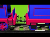 Trains for children kids toddlers. Construction game׃ steam locomotive. Educational cartoon