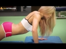 Тренировка груди для девушек - Отжимания от пола (упражнение на грудь со своим весом)