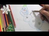 Как быстро нарисовать снеговика по шагам для детей  How to draw a snowman for kids step by step