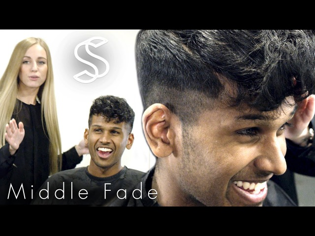 Fade Hairstyles - Curly Fringe for men - Barber Hairdresser haircut
