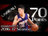 Devin Booker UNREAL Career-HIGH 70 Pts! 2017.03.24 at Celtics - 70 at the Age Of 20!