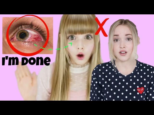 Why I Stopped Wearing Big Circle Lenses Eye-Enlarging Makeup