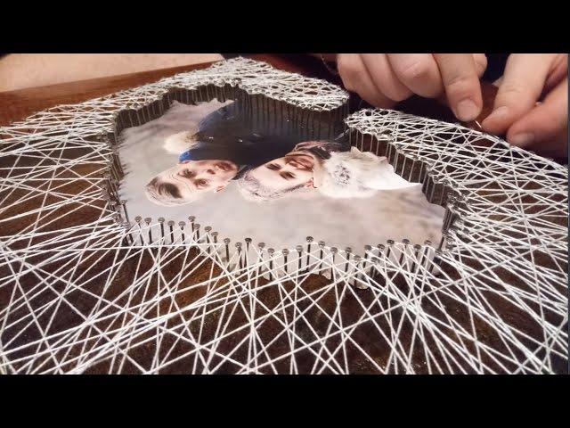 HandMade 1- Панно ( гвозди нитки ) Стринг - арт (string art)