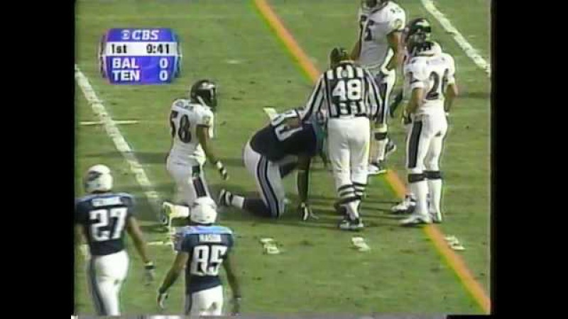 2000 AFC Playoffs Ravens at Titans 1-7-01 (1st Half) Part 1 of 3