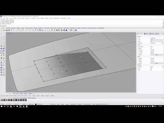 Rhino3d Tutorial - Engine Cover - Adding Local Detail (2 of 3)