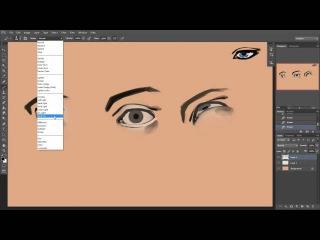 Рисование персонажей | Как рисовать глаза в фотошоп
