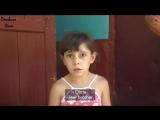 С кем воюют #ВСУ Вот маленькая девочка с операцией на сердце из Саханки: — вот в дверь пулями попало, ещё чуть-чуть и в меня бы.