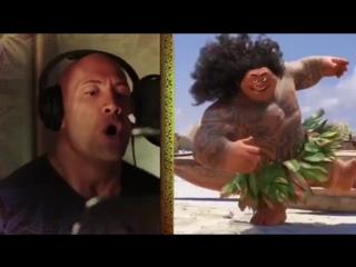 Dwayne Johnson *the rock*on Singing / Дуэйн «Скала» Джонсон поёт / Моана Moana