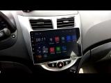 Магнитола LeTrun на Hyundai Solaris