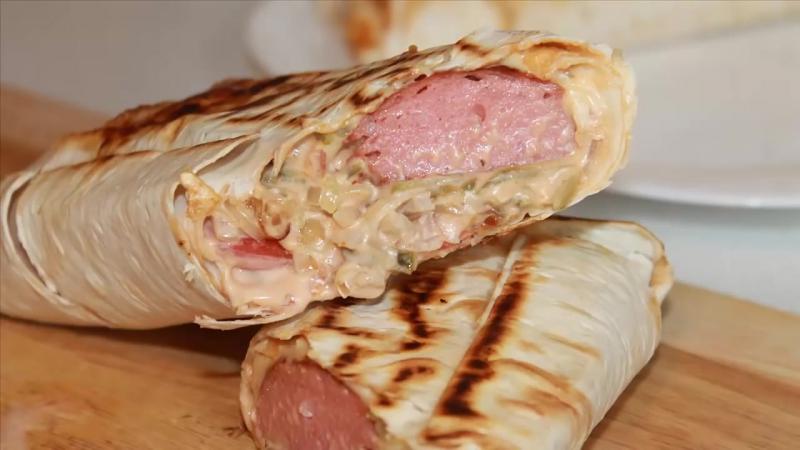 Хот-дог в Лаваше. Hot Dog in Pita Lavash