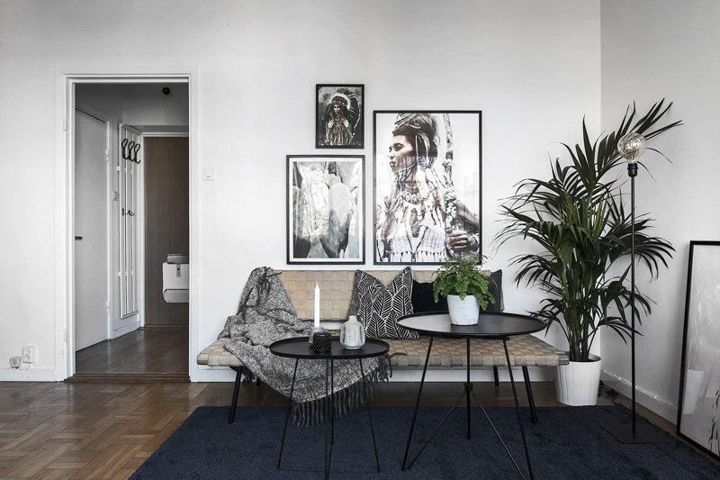 Скандинавский интерьер квартиры-студии 28,5 м.