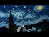 Турецкий художник Garip Ay рисует на воде картины Ван Гога (6 sec)