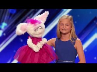 Выступление 12-летней чревовещательницы, покорившей зрителей американского шоу т