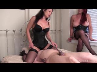 Mistress Jasmine & Goddess Rianna - Edging a Useless Dick
