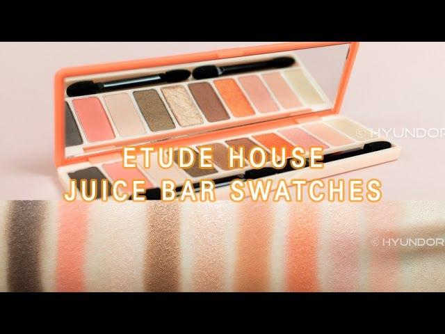 에뛰드 플레이 컬러 아이즈 주스바 발색! | ETUDE HOUSE PLAY COLOR EYES JUICE BAR SWATCHES