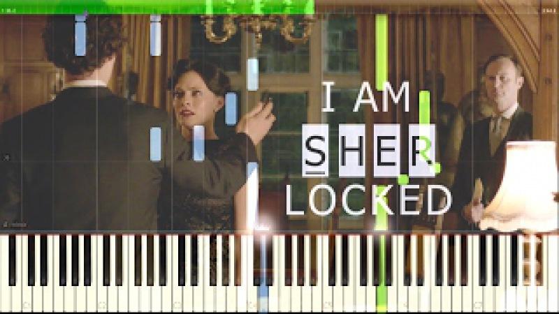 Irene Adler's Theme Sherlocked - Sherlock (Synthesia Piano Tutorial)