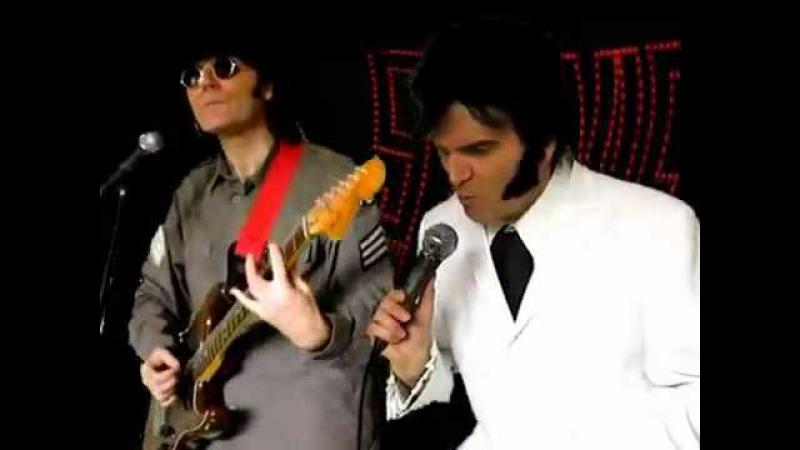 Stevie Riks as Elvis Presley and John Lennon