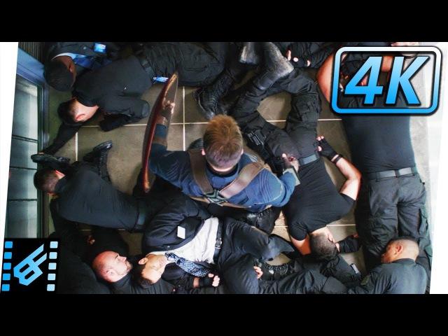 Elevator Fight Scene | Captain America The Winter Soldier (2014) Movie Clip