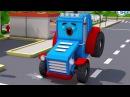 Süper Traktör ve Ekskavatör şehirde - Arabalar çizgi filmi - Video çocuk için
