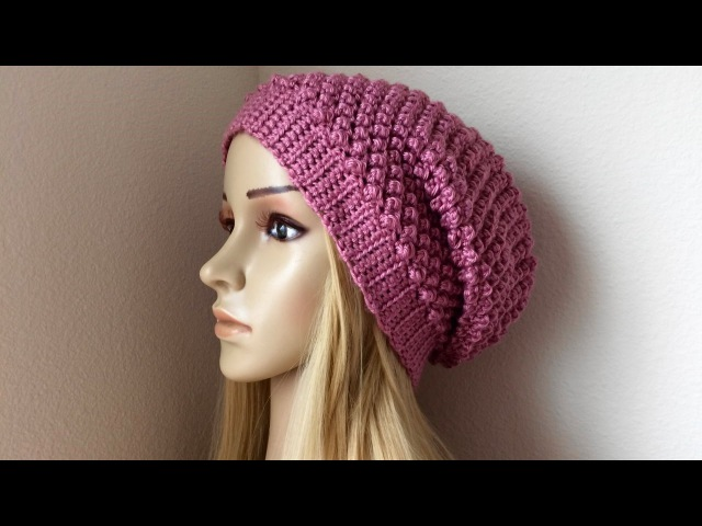 How To Crochet A Raspberry Stitch Hat, Lilu's Handmade Corner Video 84