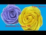 Cách làm hoa hồng xoắn bằng giấy nhún - Twisted Rose paper flower tutorial
