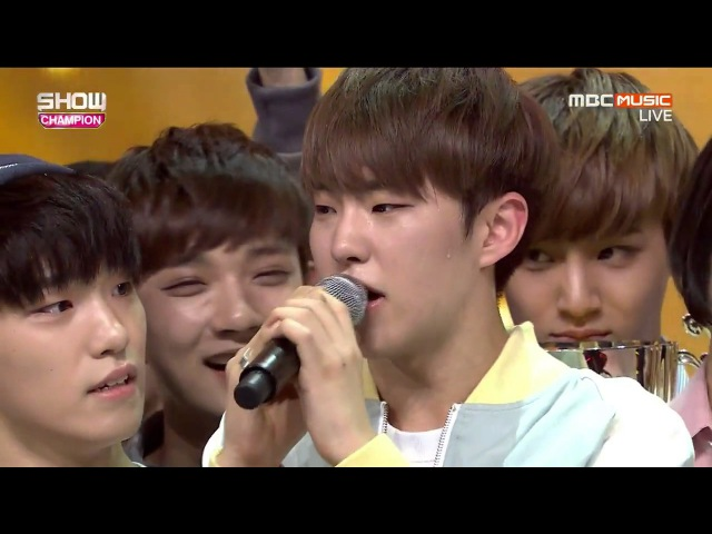 160504 SEVENTEEN 세븐틴 - Pretty U 예쁘다 1위 수상 Win Encore @ 쇼챔피언 Show Champion (SEVENTEEN 1st win)