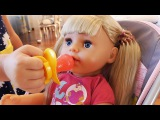 Baby doll Mornign routine, toys for kids to play pretend play, baby born chair, nursery rhyme song