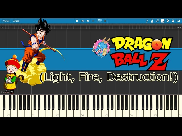 Light, Fire, Destruction! - Dragon Ball Z Opening (Piano Tutorial)