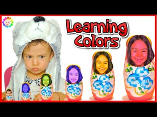 Learn Colors with RUSSIAN DOLL for Babies and Preschool Kid 👶 Learning Colours with Bad Kids