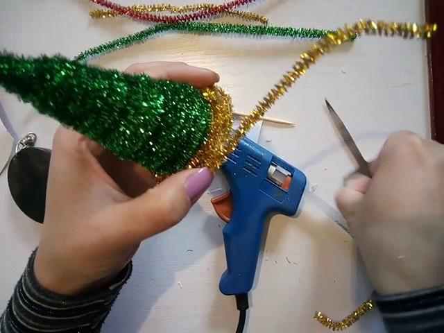 Ёлочка из синельной проволки новогодние поделки своими руками
