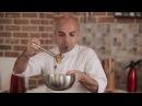 Молекулярная кухня. Десерт «Non vero». Имитация яичницы с картофелем и кетчупом из малины
