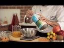 Молекулярная кухня. Фруктовый салат с лимонным сорбетом и икрой из сока манго